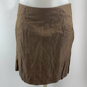 Armani Exchange Brown Pleated Skirt Size 2